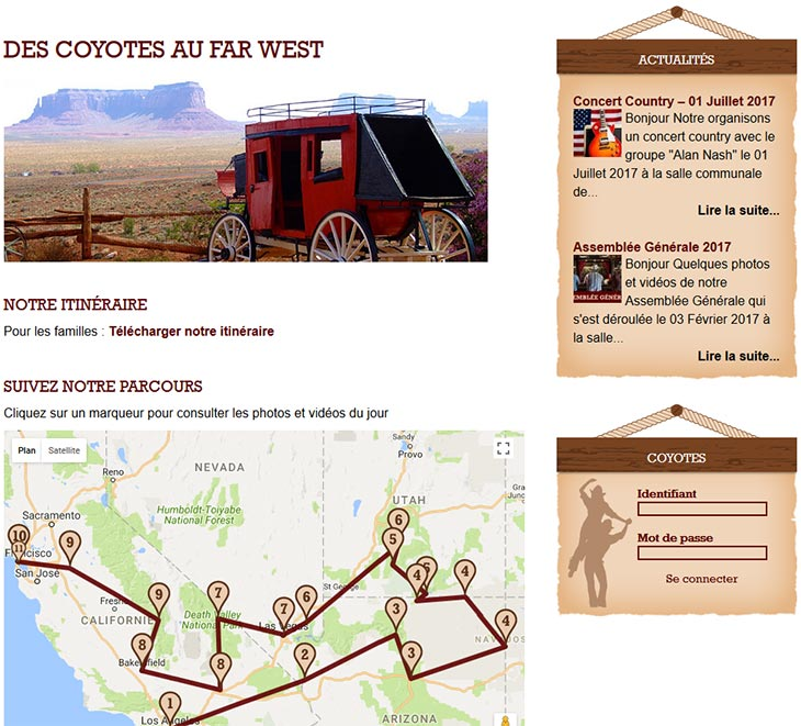 coyote line dance site web