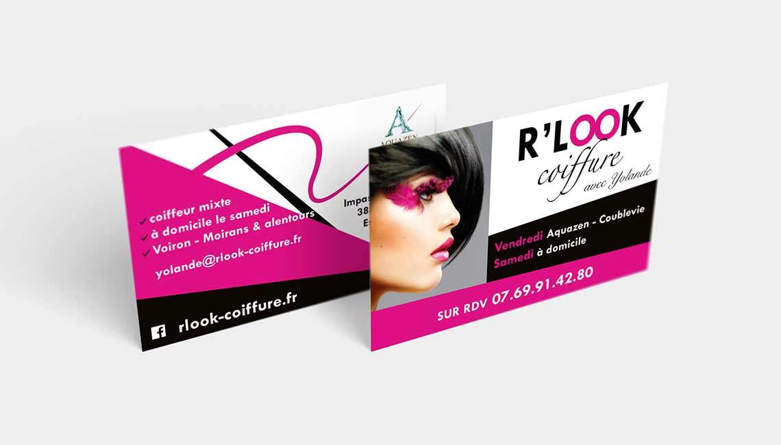 Extrêmement Flyer & carte de visite RLOOK Coiffure | Lashermes BS77