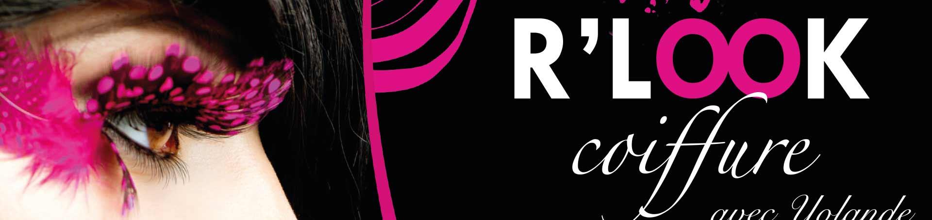 Celebre Flyer Carte De Visite RLOOK Coiffure